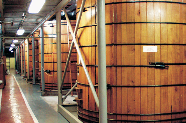 Today giant vats serve as a viewing platform within the excursion route